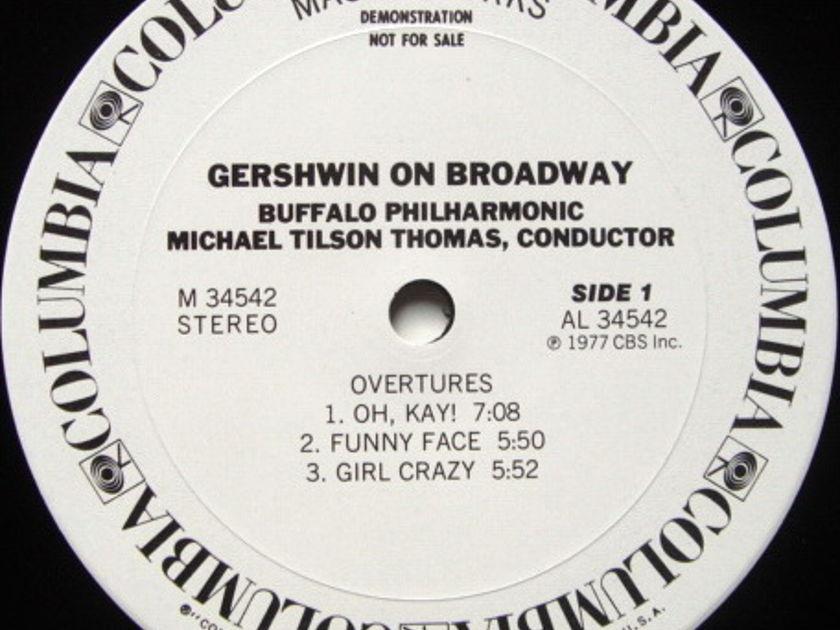 Columbia / TILSON THOMAS, - Gershwin on Broadway, NM, White Promo Copy!