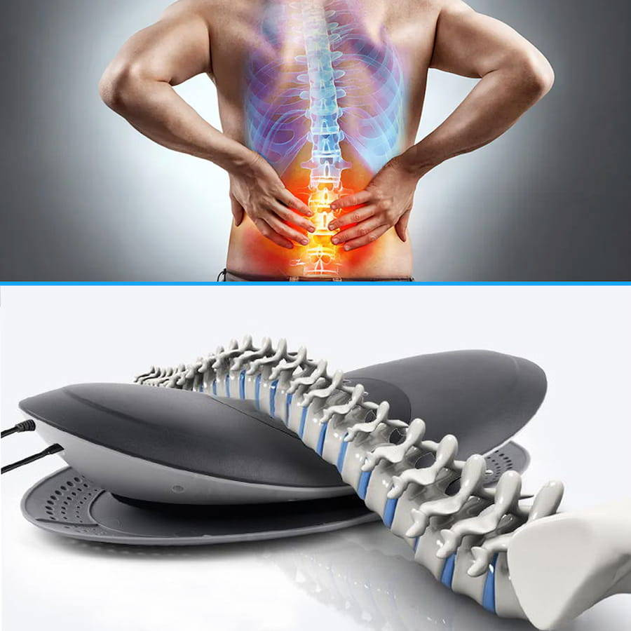 lumbar decompression device, Lower back pain relief,  back therapy device, spine alignment device