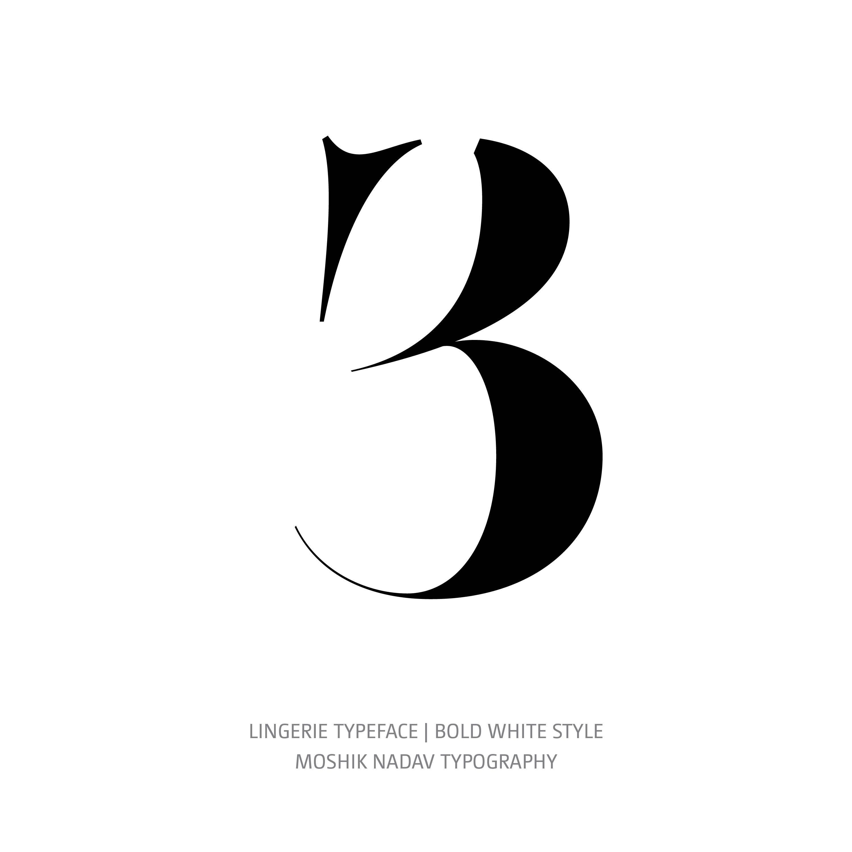 Lingerie Typeface Bold White 3