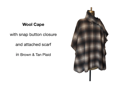 Wool Cape - Plaid