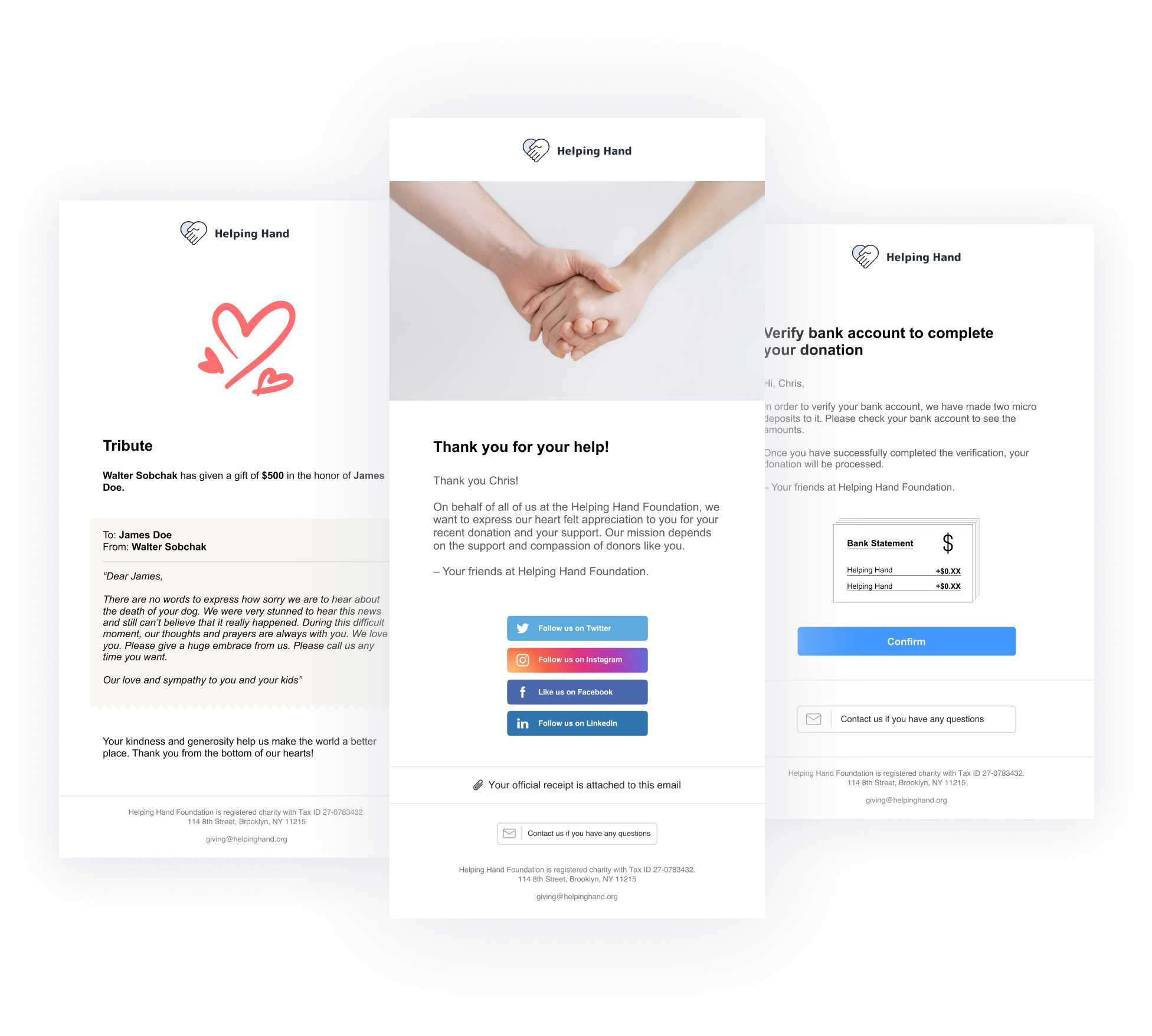 Automated Emails – Fundraise Up