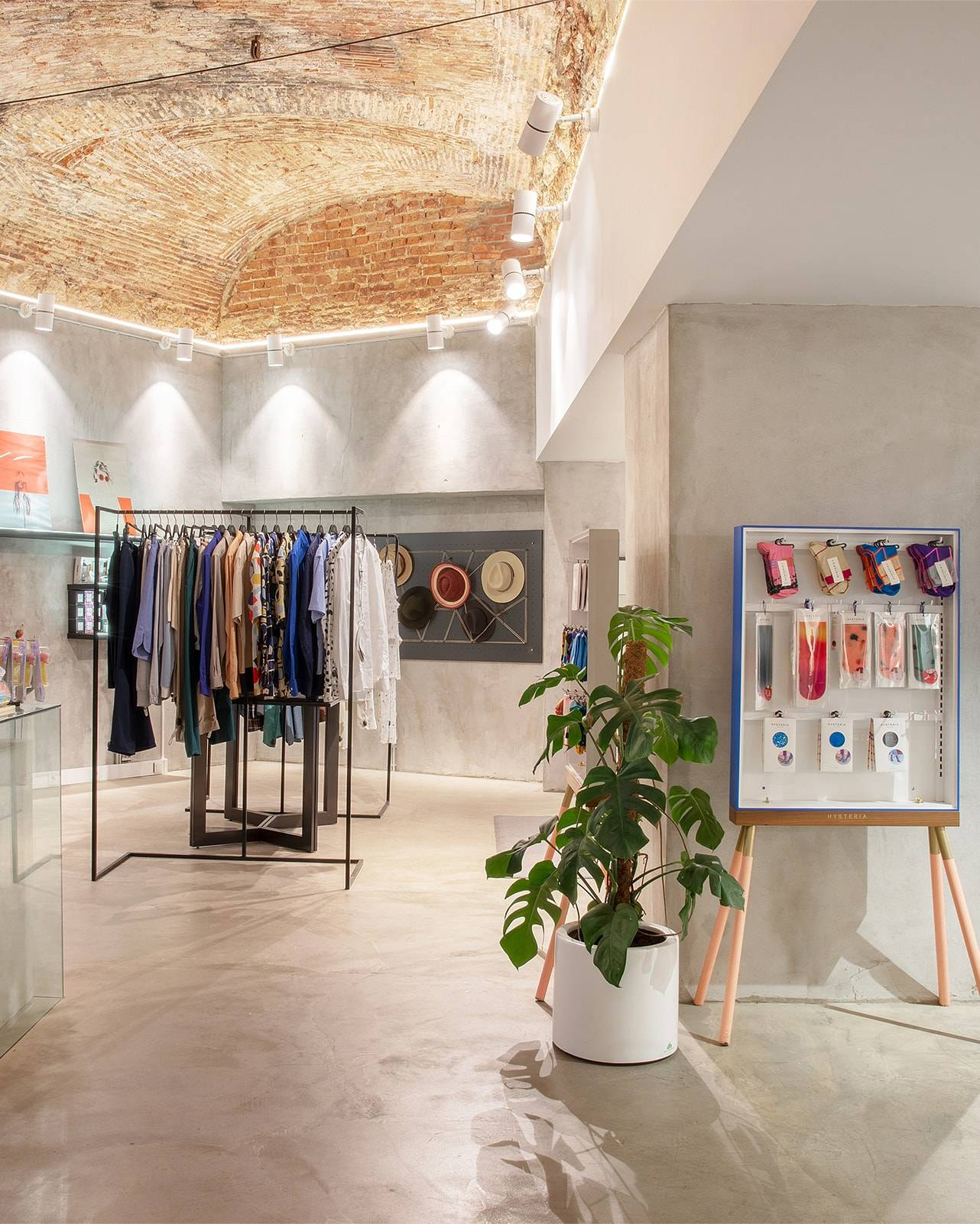 Inside view at The Feeting Room curated concept shop in downtown Lisboa