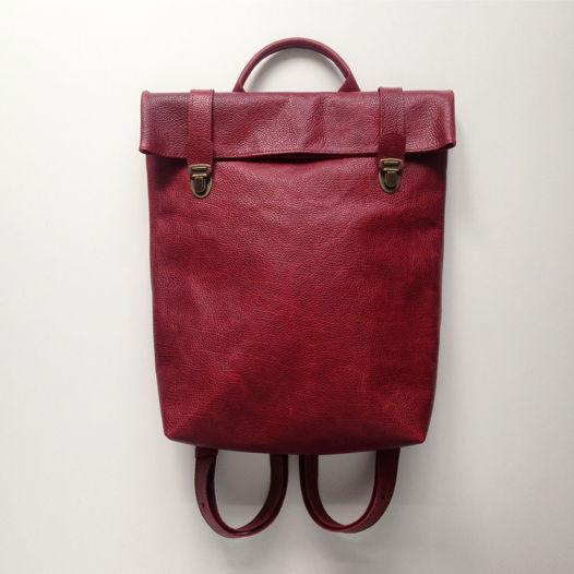 Кожаный рюкзак Strawberry