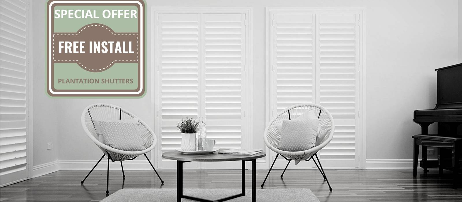 Free Installation on Plantation Shutters