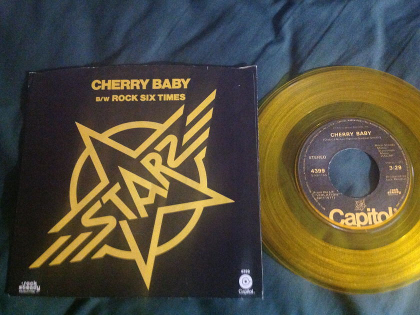 Starz - Cherry Baby Gold Vinyl 45 With Sleeve