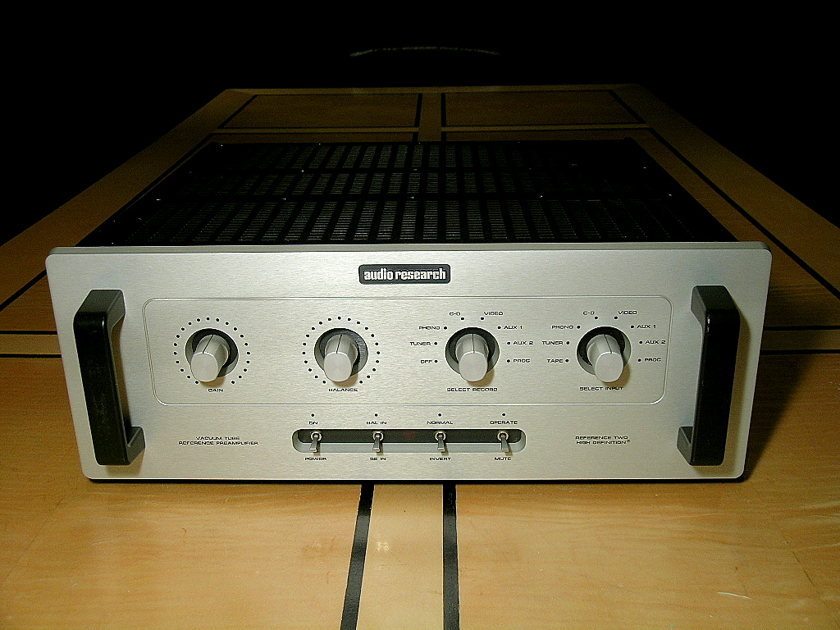 Audio Research Reference 2 (Ref 2)  Line stage pre amp--Silver
