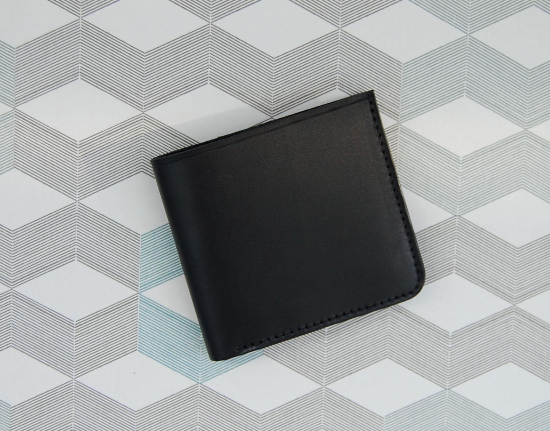 ad096b1dae98 Кожаный черный кошелек Wave Black в магазине «Soroko» на Ламбада-маркете