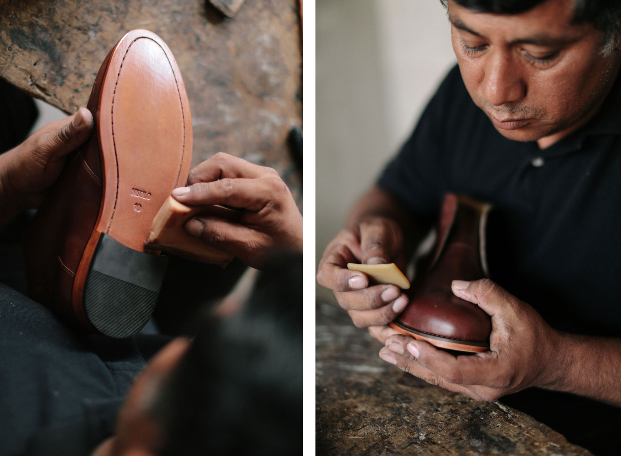the final touches of creating a chukka boot