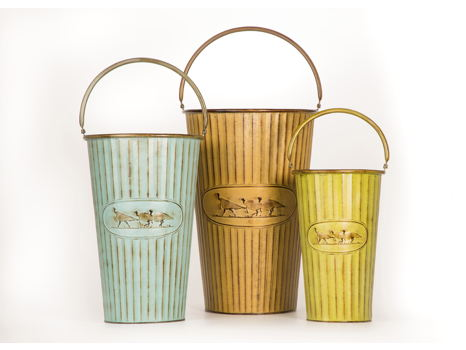 Aldean Metal Flower Pots - Set of 3