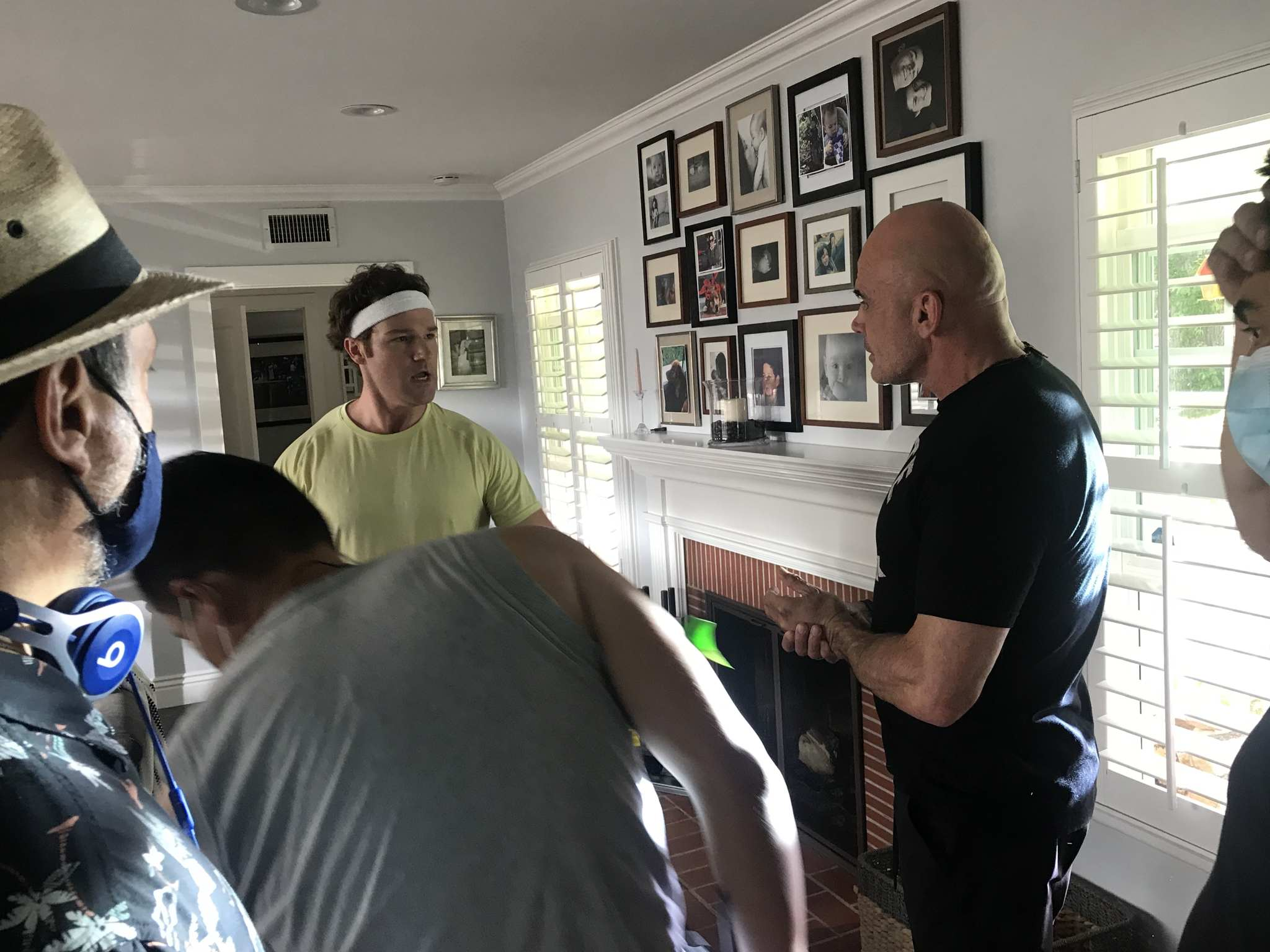 The hilarious Shane Hartline plays the twins farther, and here gets some training from MMA Superstar Bas Rutten