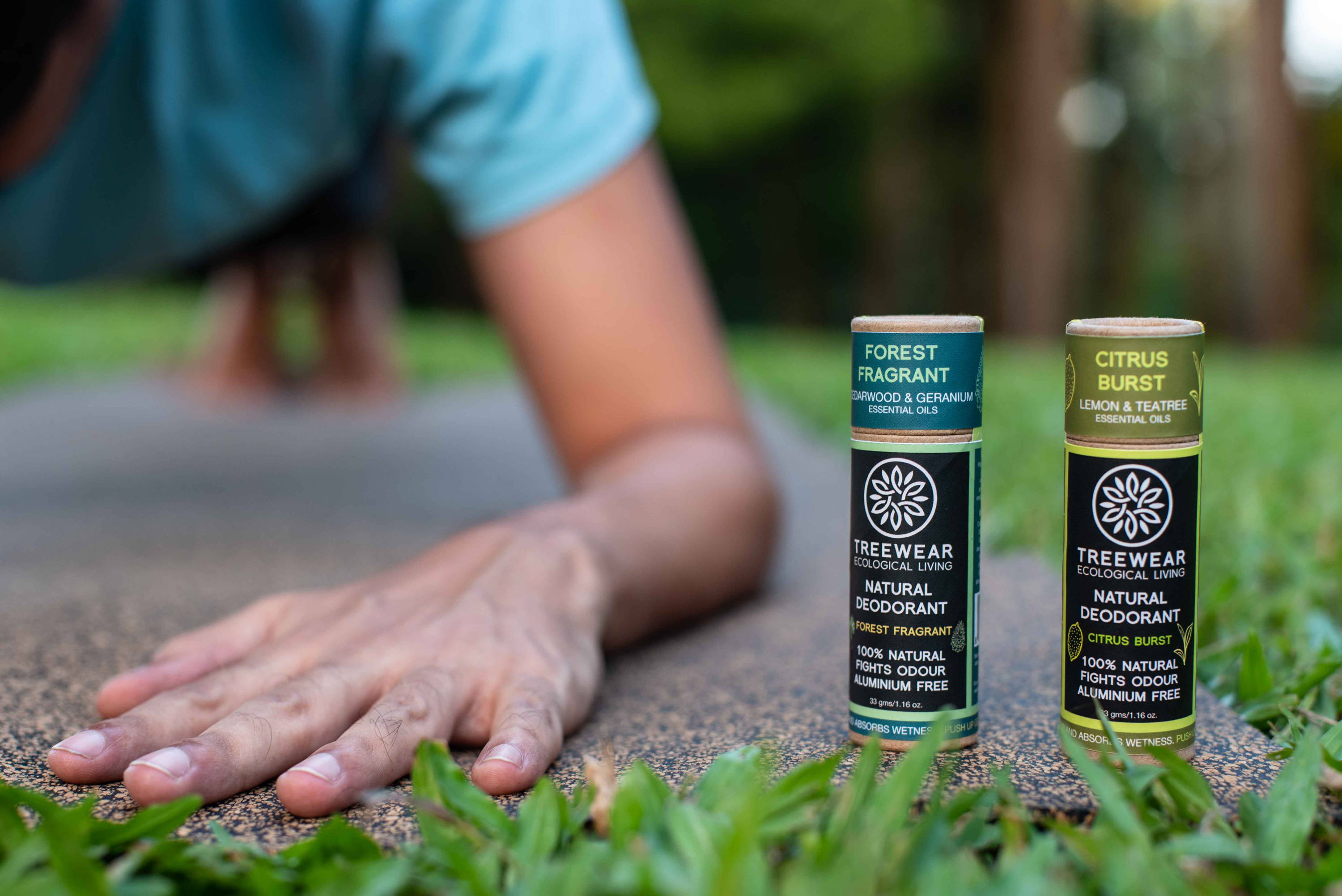 Natural Deodorant Stick - set of 2 planking
