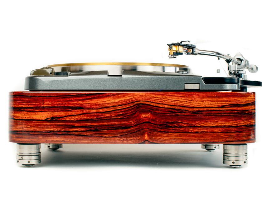 Thorens TD124  Quaretrsawn Cocobolo Plinth  by Woodsong Audio