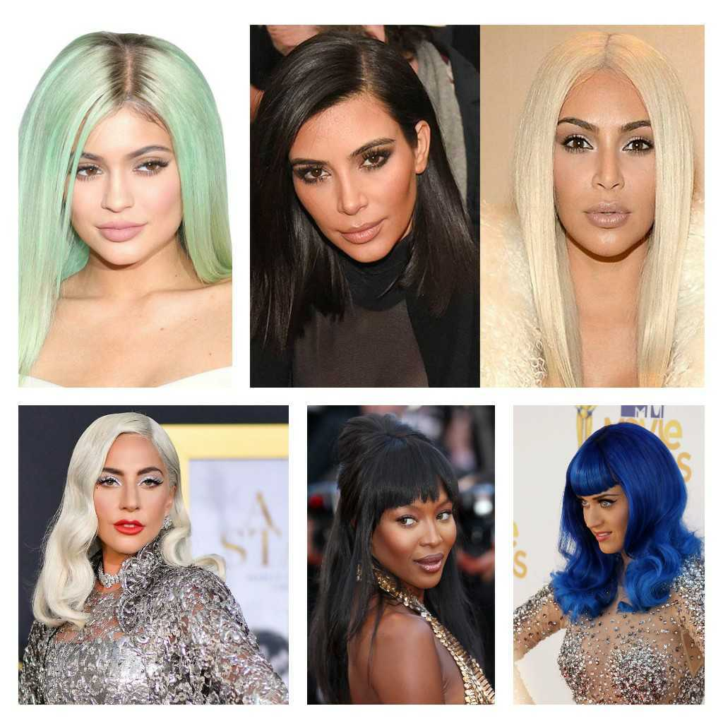 Celebrities in wigs