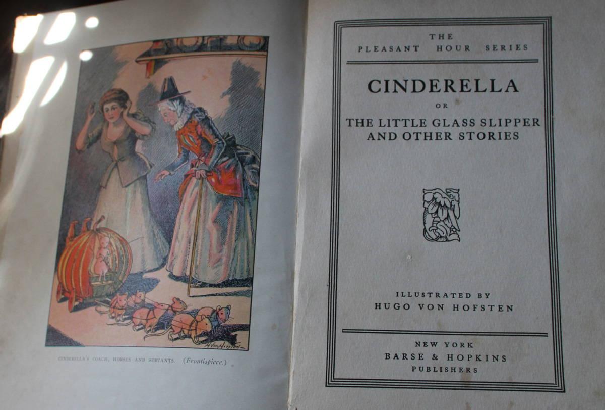 1900年出版「シンデレラ」 アフロヘアーのシンデレラとカボチャの馬車