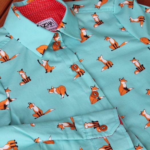 """Рубашка """"Лисички сестрички"""""""