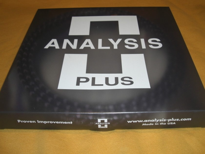ANALYSIS PLUS SOLO CRYSTAL OVAL 8 BIWIRED *6 FOOT PAIR* W/SPADES NEW IN BOX