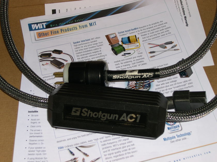 MIT Shotgun AC1 UPGRADE pwr cable, DEMO HALF-PRICE, wrnty