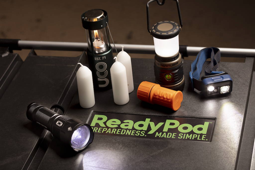 ReadyPod™ shelter-in-place kits feature a variety of lighting sources with redundancy in mind