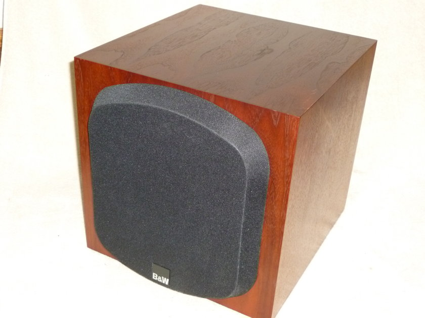B&W Bowers and Wilkens ASW700 Powered Subwoofer Rosewood Finish