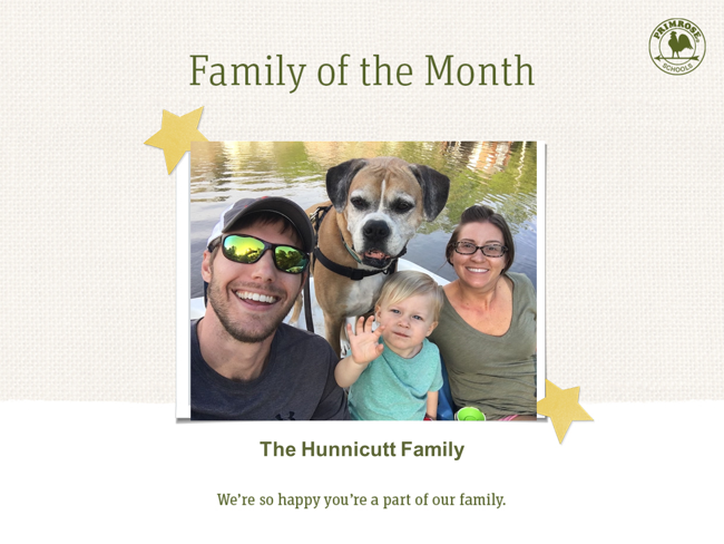 ​It's Our Pleasure to Honor the Hunnicutt Family