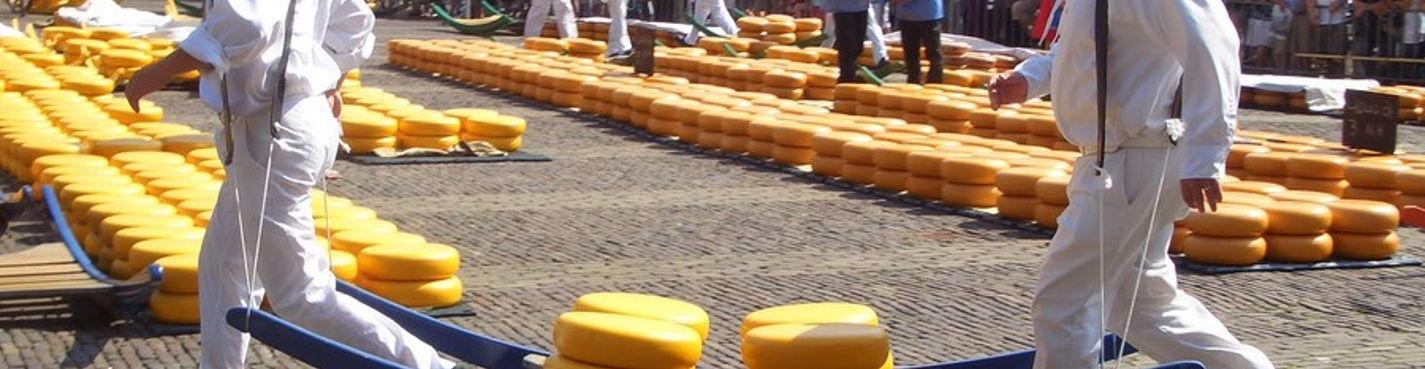 Алкмаар — сырный рынок и ветряные мельницы