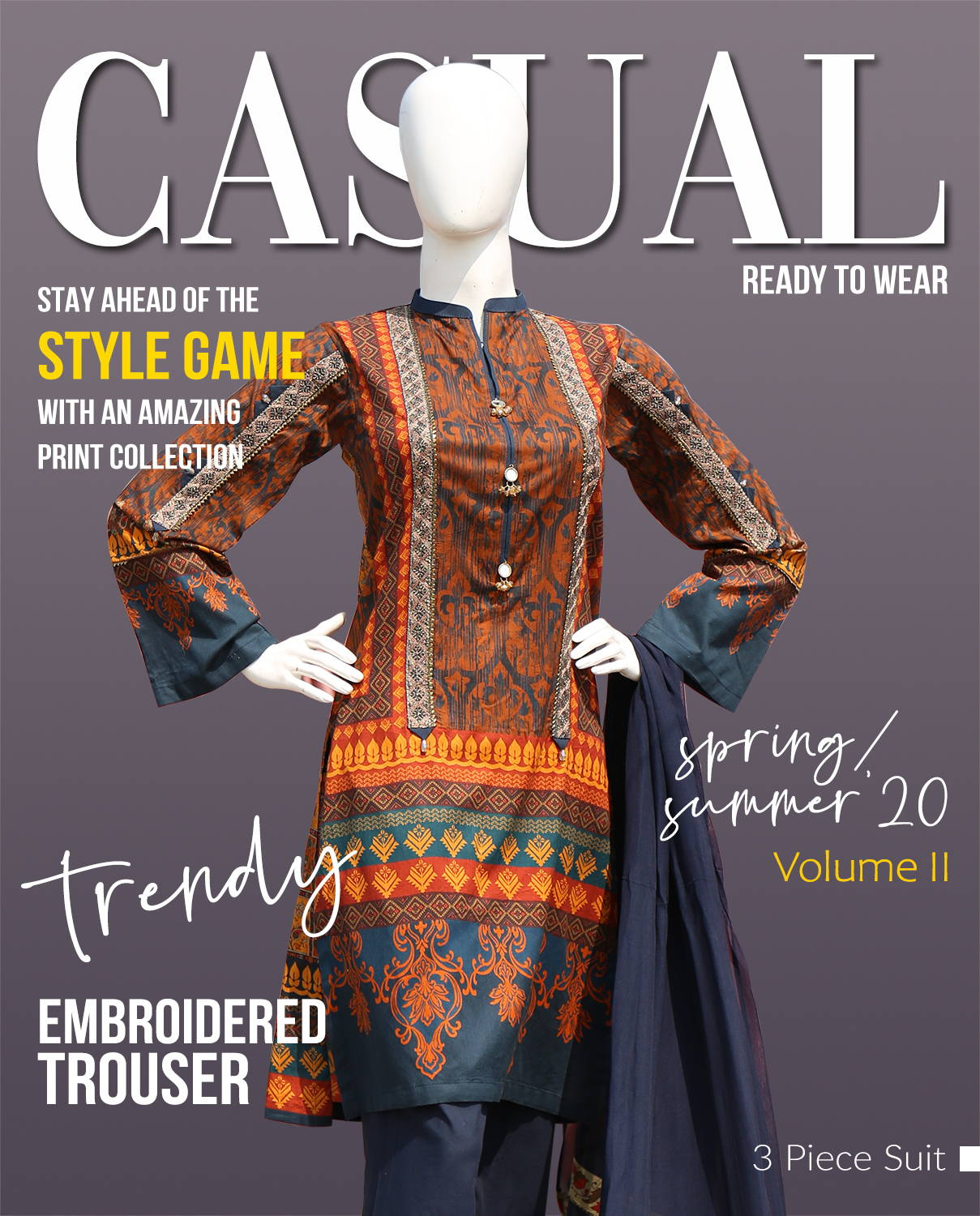 casual wear, summer collection, lawn cotton