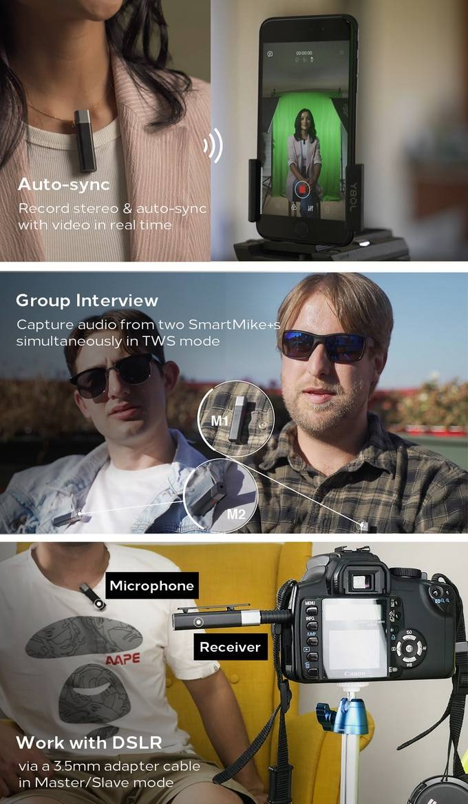 3 banner photos of Smartmike+