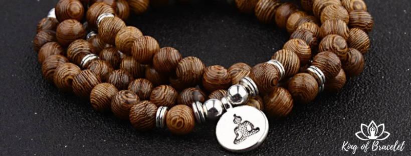 bracelet bouddhiste bois signification