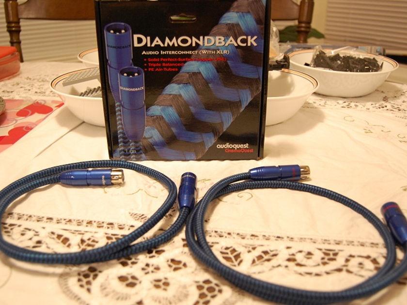 Audioquest Diamondback Interconnect 1.0 Meter XLR to XLR