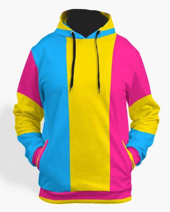 Pansexual flag hoodie