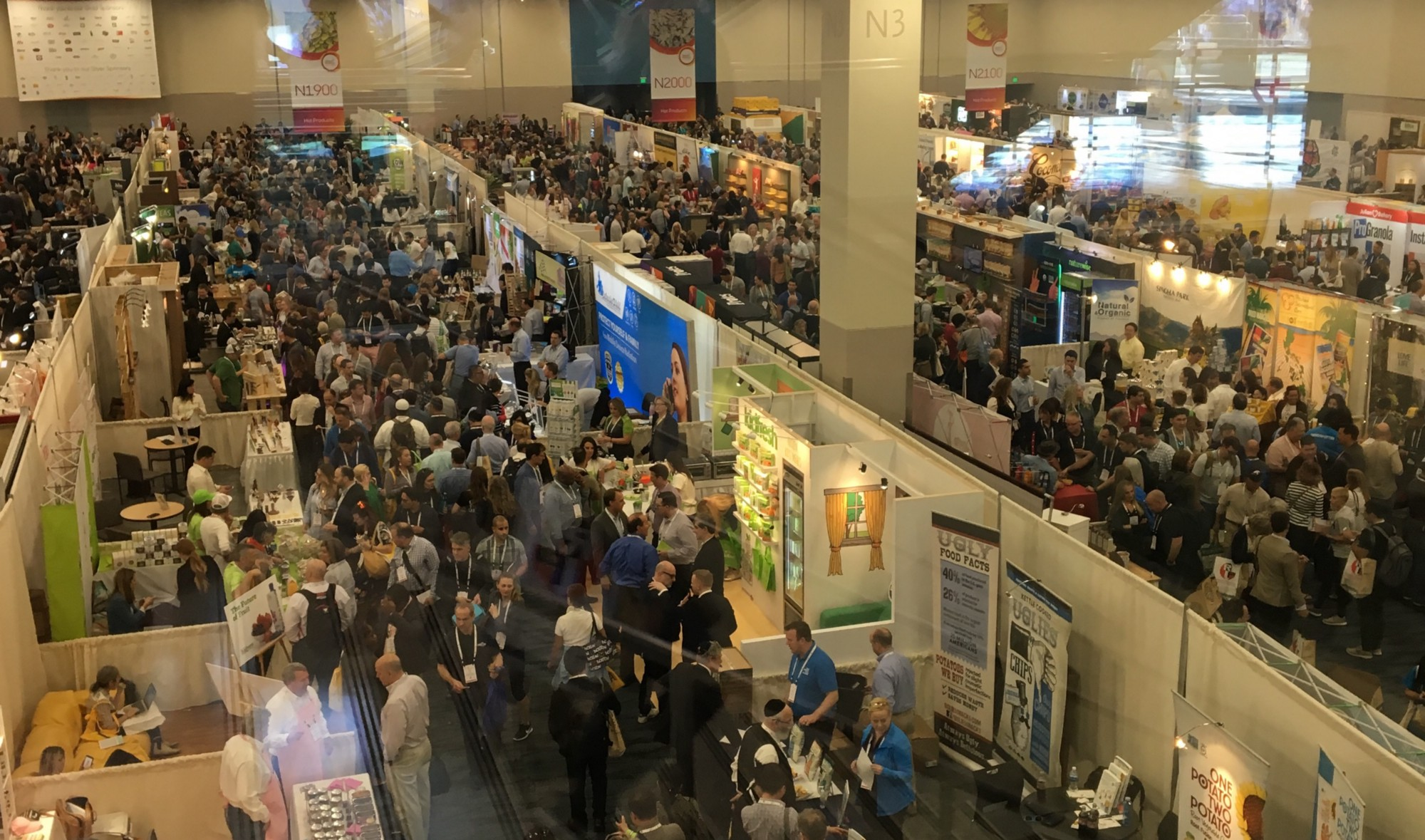 Vendors line the halls of Fancy Food Fest