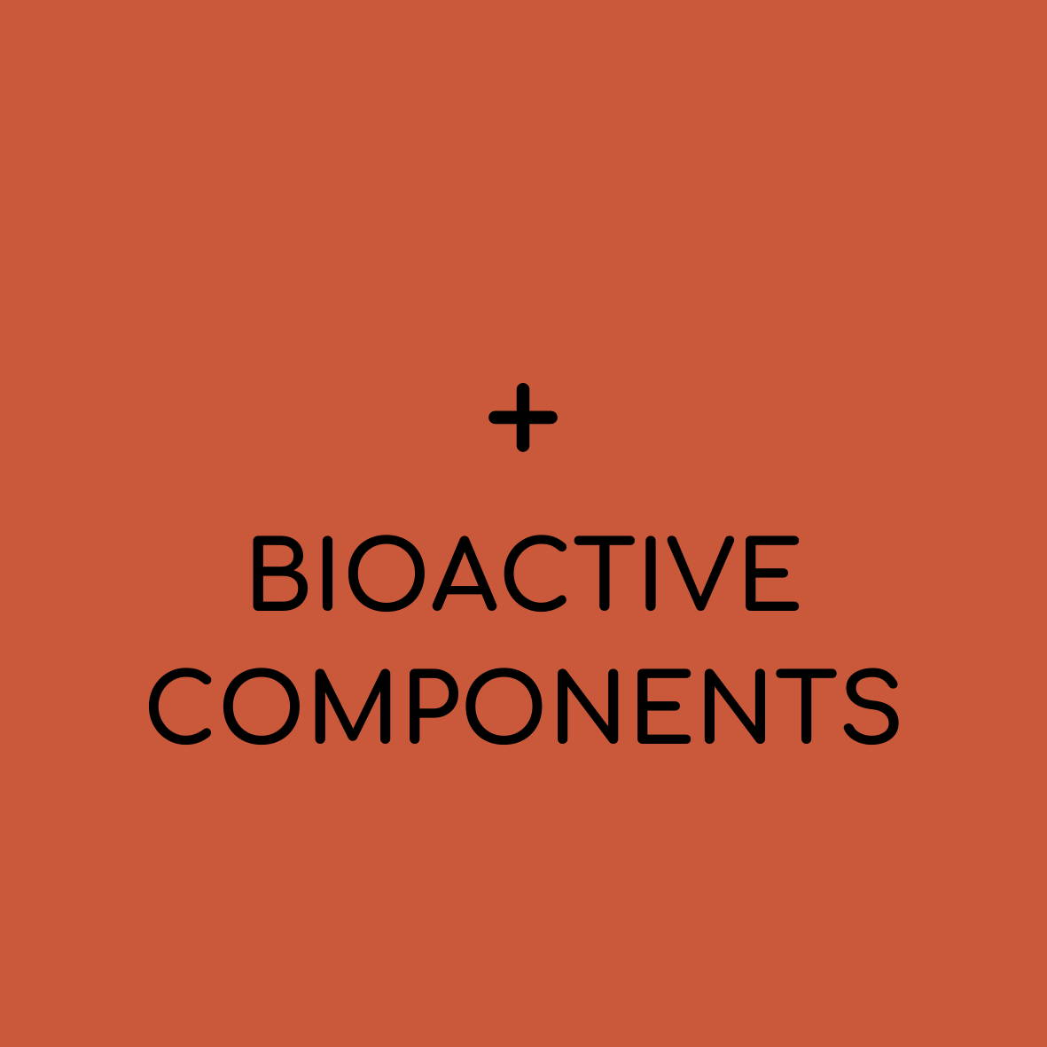 "solid background with plus sign and ""bioactive compounds"""