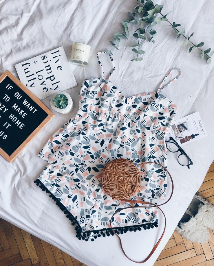 Пижамный топ для сна (геометрия)