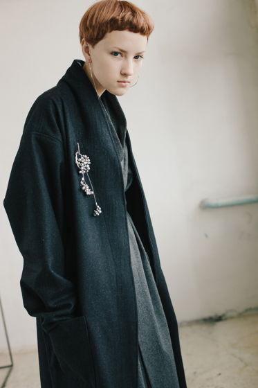 осеннее пальто *графит*