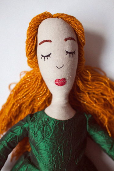 Текстильная кукла Грустинка