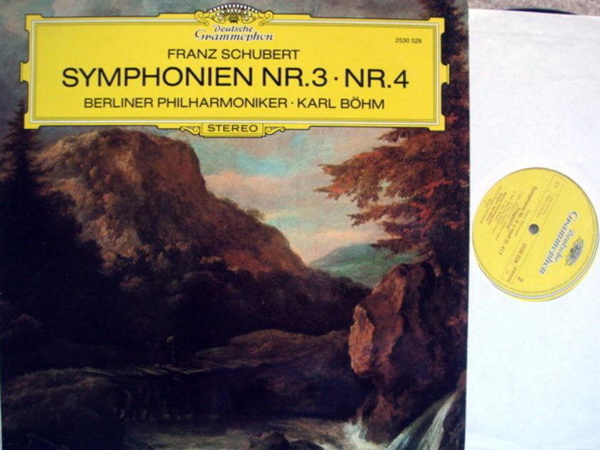 DG / BOHM-BPO, - Schubert Symphony No.3 & 4, MINT!