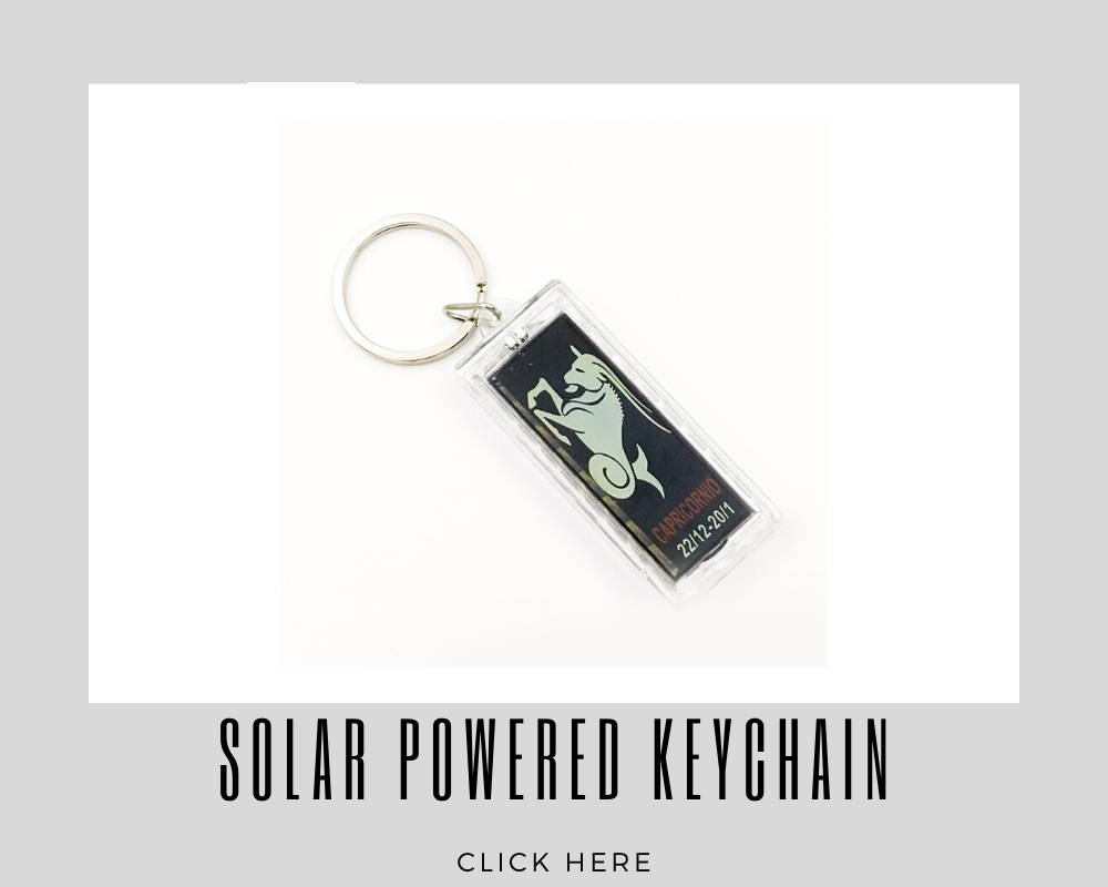 Giveaways Promotional Solar Powered Keychain