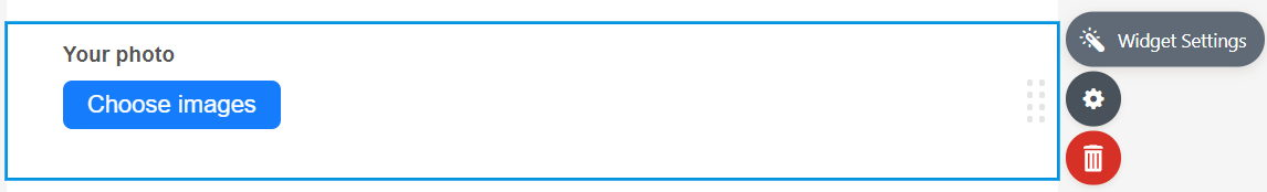 Widget Settings Icon in JotForm