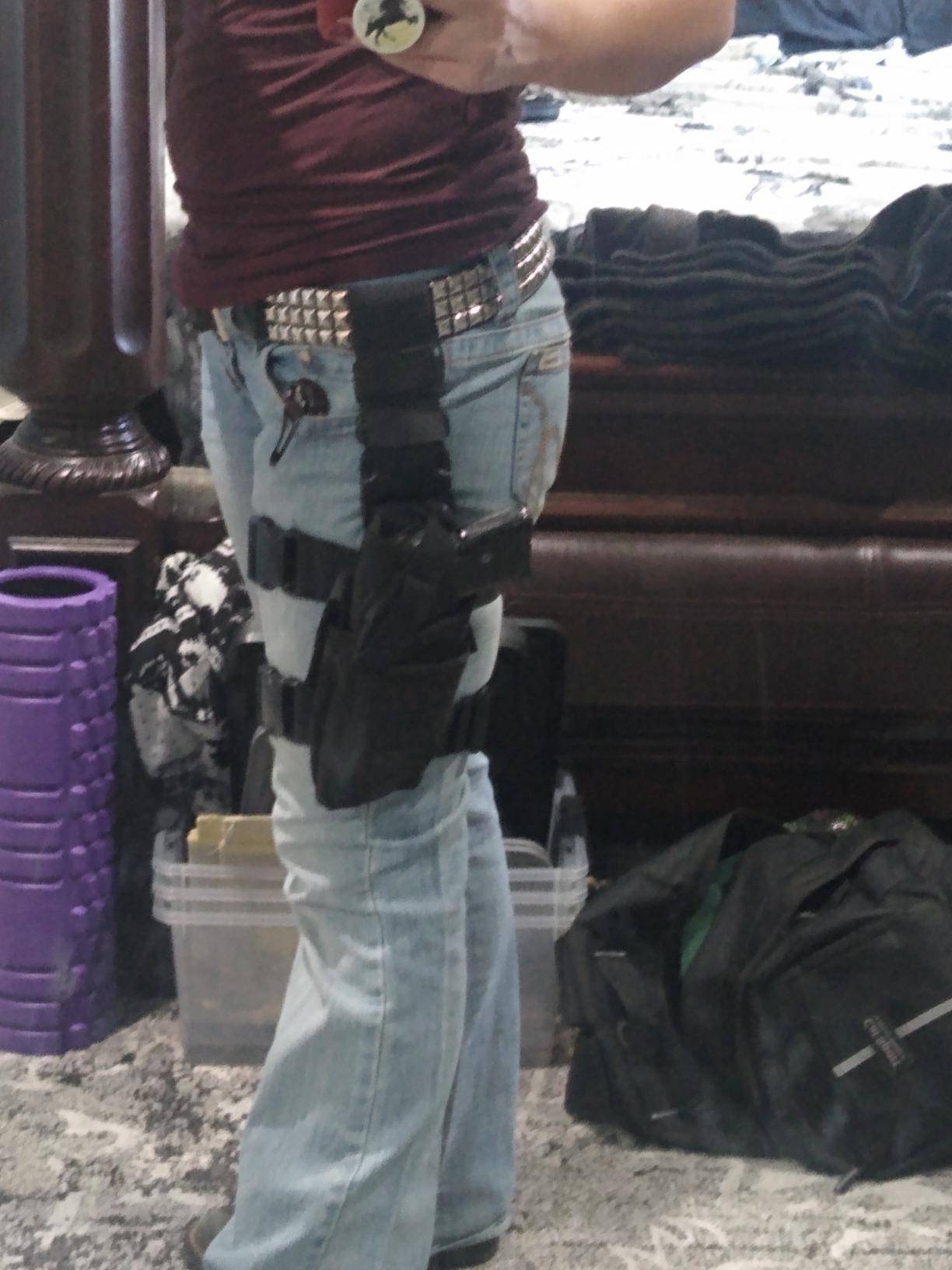 dragon belly holster review, belly band holster for men, customer picture 2