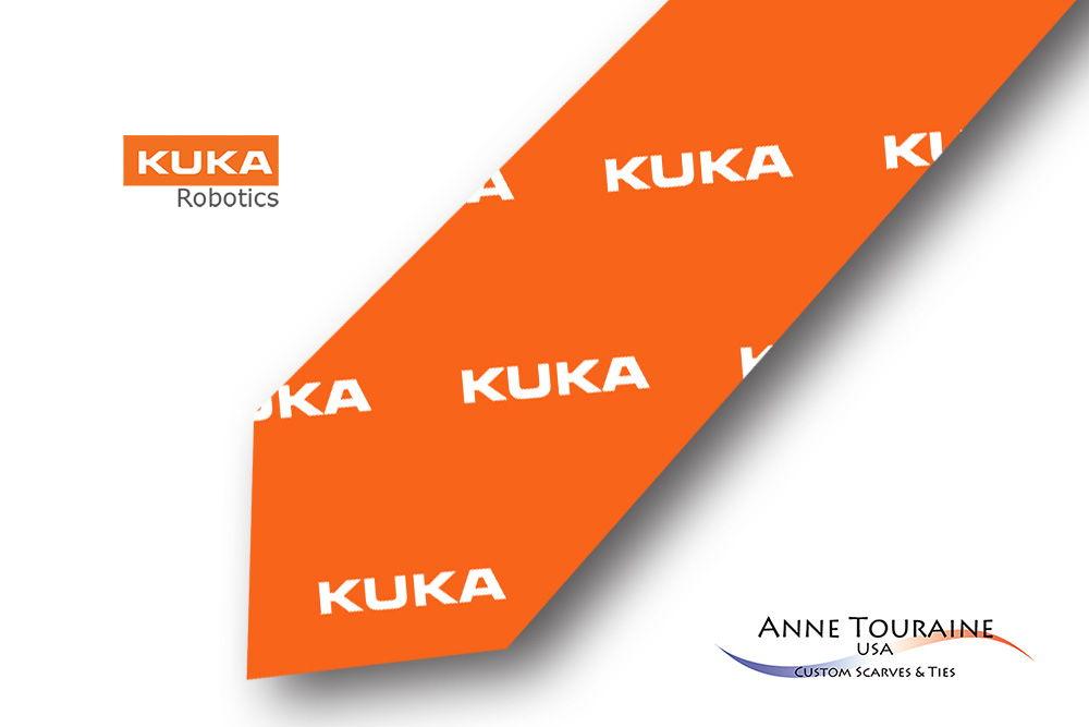 Repeated-logo-custom-ties-design-style-orange