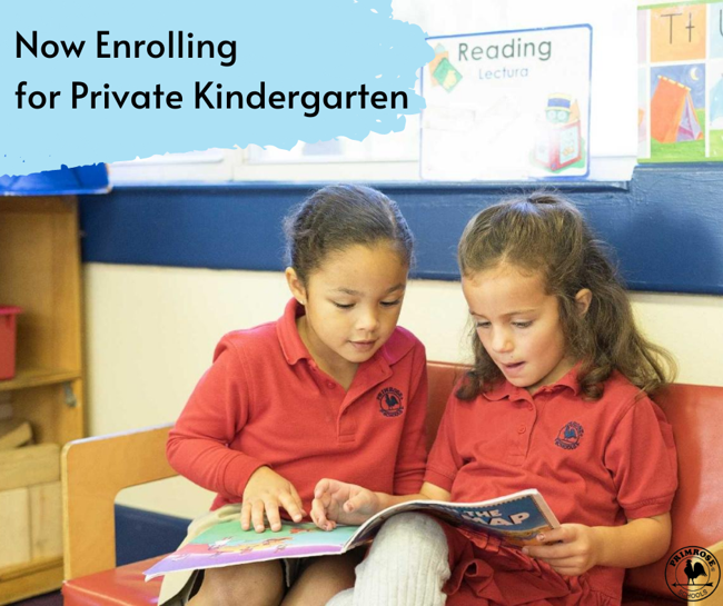 Now Enrolling Private Kinder Primrose Preston Hollow