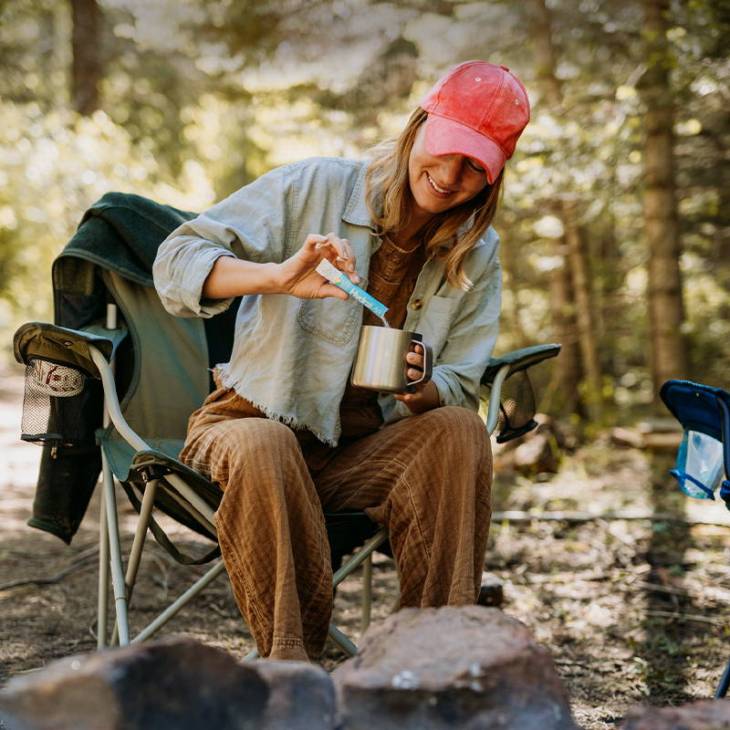 On-the-go hydration, camping