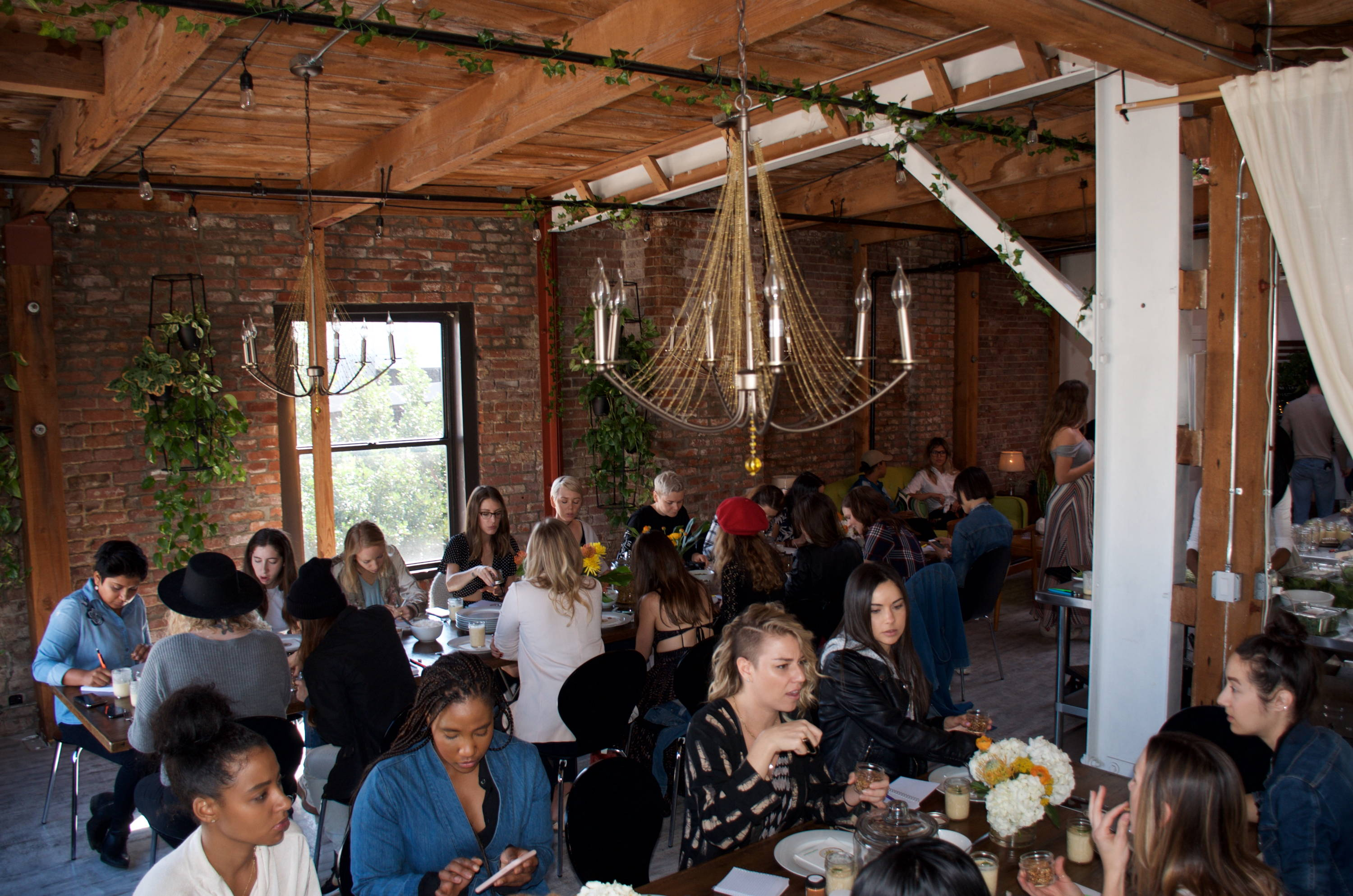 Foodie masterminds and entrepreneurs gather for a vegan brunch