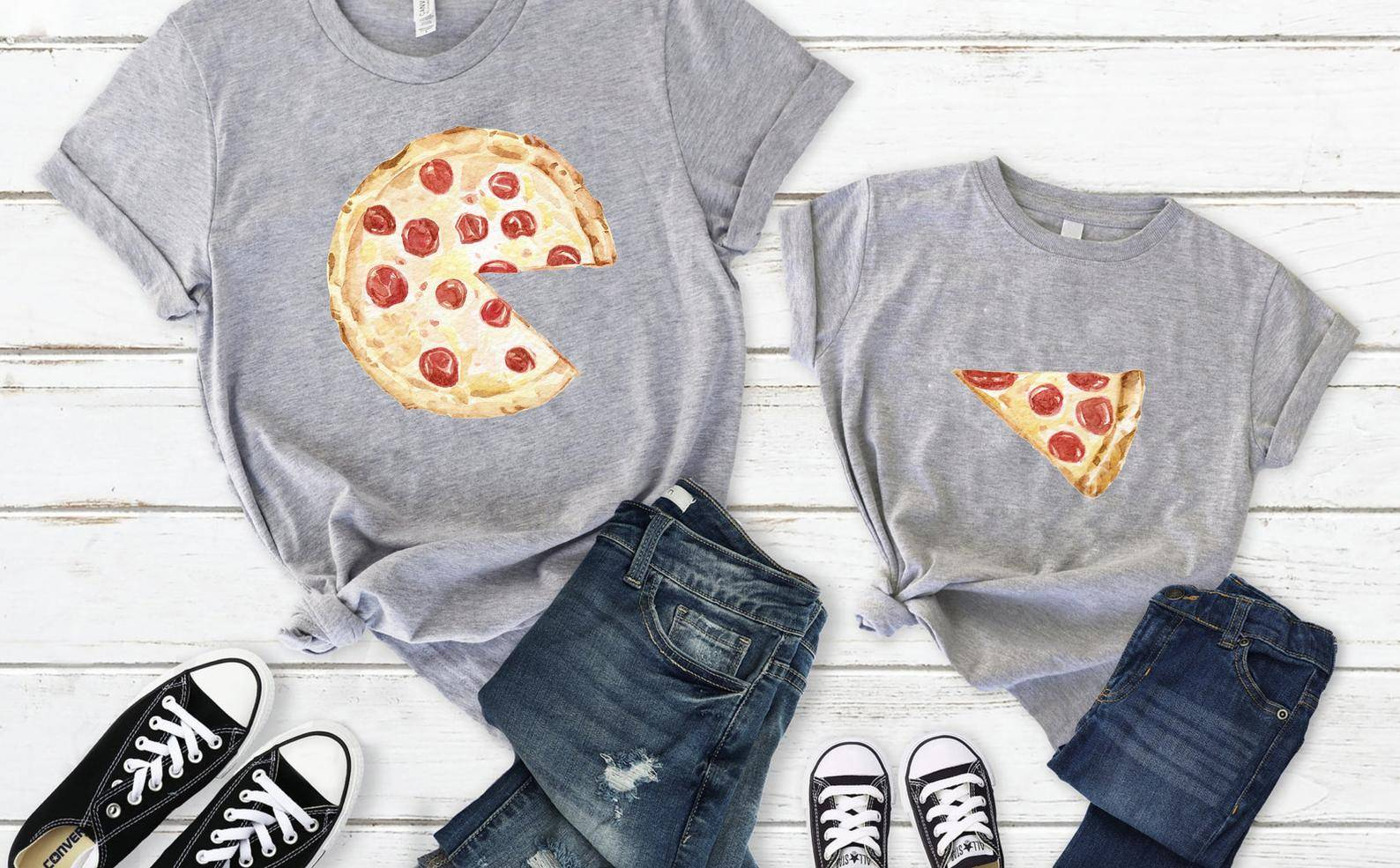 Father & Son Pizza Shirts
