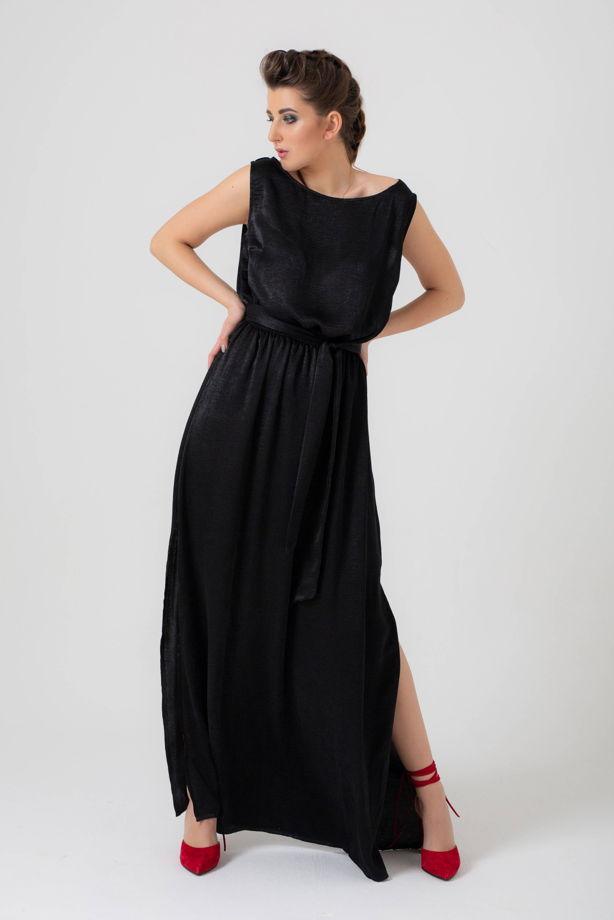 Платье в пол с разрезами
