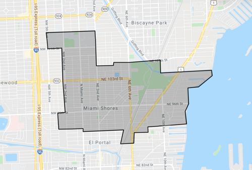 skyview of Miami Shores