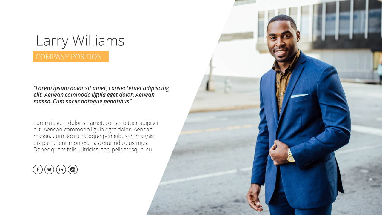 Modern X Presentation Template Business Plan Founder
