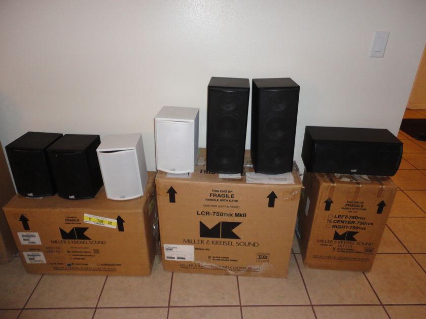 M&K  750 THX 7 Speakers excellent condition