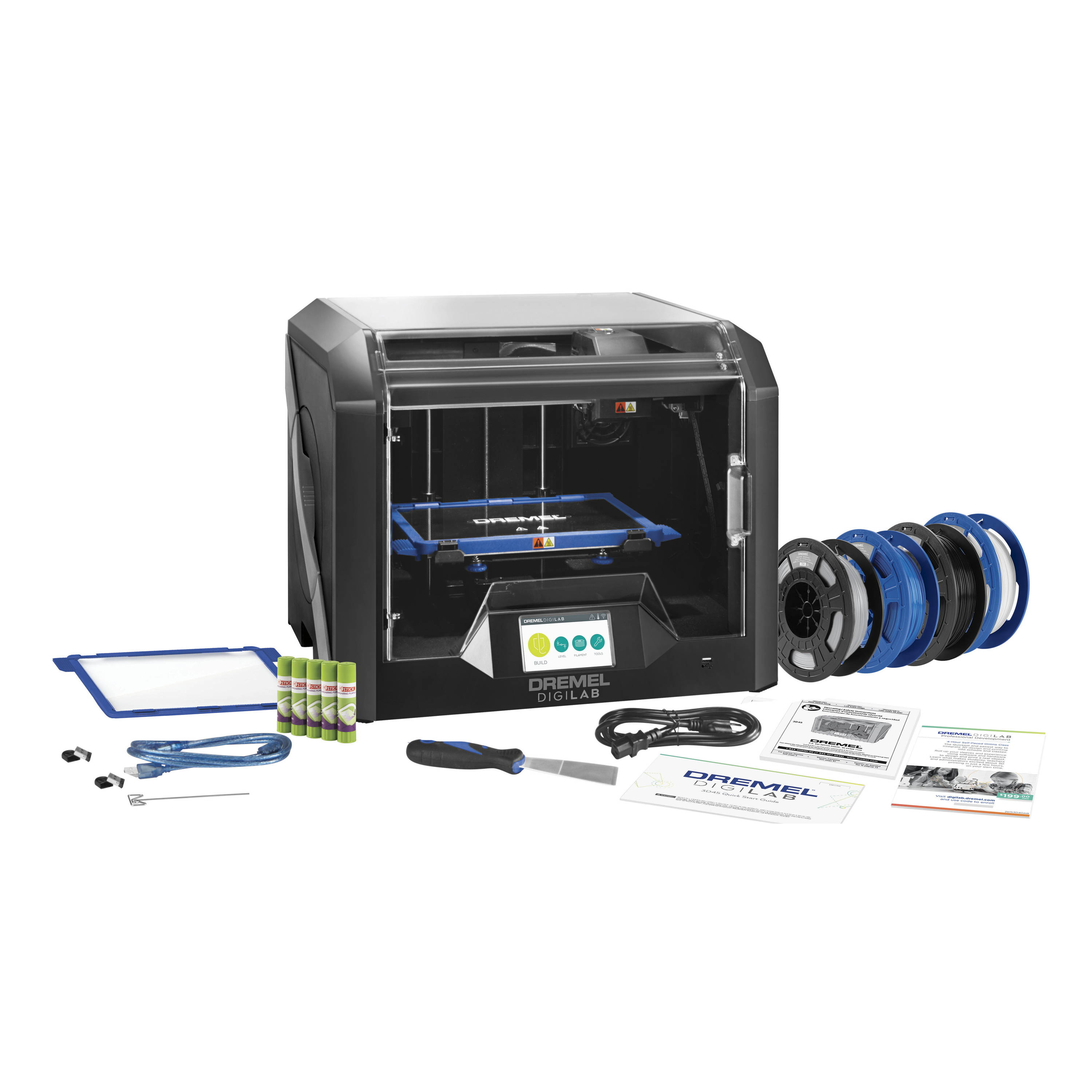 Image of 3D45-EDU 3D printer bundle with all included contents