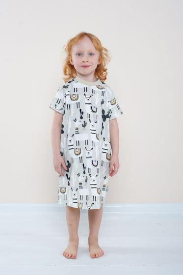 """Летняя пижама-платье для девочки """"Лама"""""""